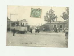 75 - PARIS - XXeme La Porte De Romainville Animé Beau Plan De Tramway Bon état - District 20