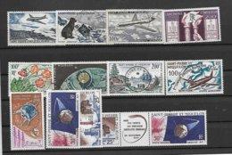 ST.P. MIQUELON- AERIEN -12 TRES BEAUX TIMBRES BIEN OBLITERES DU N° 25/34A SAUF LE N°38 -PLUSIEURS SIGNES EXPERTS-2 SCANS - Airmail