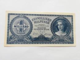 UNGHERIA 1 MILLIARD PENGO 1946 - Ungarn