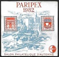 Bloc CNEP N° 3 - PARIPEX 1982   - Variété Sans Traits Sur Les Toits- Nsg - CNEP