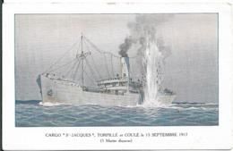 Cargo Saint Jacques Coulé En 1917 - Commercio