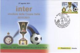 Italia 2011 Calcio Coppa Italia INTER Squadra Vincitrice Busta FDC - Famous Clubs