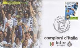 Italia 2010 Calcio Campionato Italiano 2009-2010 INTER Squadra Vincitrice Busta FDC - Famous Clubs