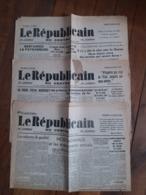 Juillet 1940 Journal Républicain Du Centre (3) Orléans  Guerre Occupation WWII - 1939-45