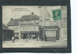 76-GODERVILLE-Une Vue Animée Du CAFE Du COMMERCE Plaçe De La Mairie-Imprimerie Du JOURNAL  De CRIQUETOT - Goderville