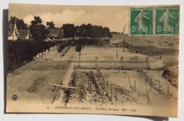 C. P. A. : 33 ANDERNOS LES BAINS : La Place Terrasse, Timbre En 1909 - Andernos-les-Bains