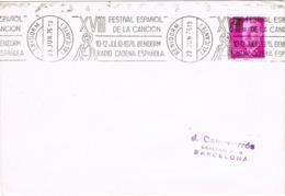 34347. Carta BENIDORM (Alicante) 1976. Rodillo Especial XVIII Festival Español De La Canción - 1931-Hoy: 2ª República - ... Juan Carlos I