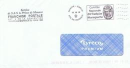 Service De S.A.S. Le Prince De Monaco - Franchise Postale - Machine Stamps (ATM)