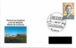 SPAIN. POSTMARK ROUTE OF THE CASTLES AND THE BATTLES. BAÑOS DE LA ENCINA 2017 - España