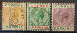 CYPRUS 1912 - Canceled - Sc# 61, 62, 63 - Chypre (...-1960)