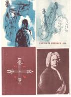 Musik DDR 256-259 BACH 4 Postkarten SST EISENACH BACHJAHR 1950 (21948) - Musik