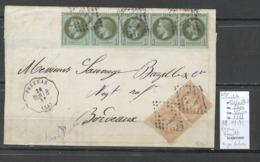 France -Lettre - Affranchissement Septembre 1871 - Pezenas Herault  - SIGNE CALVES - Marcophilie (Lettres)