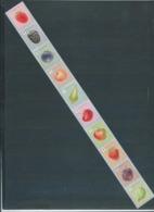 Timbres Rouleaux Par 10 Rolzegels Fruits Grande Dentelure Groseille Grote Tanding VF 9,2 € - Rollen