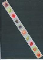 Timbres Rouleaux Par 10 Rolzegels Fruits Petite Dentelure Fraise Kleine Tanding VF 9,2 € - Francobolli In Bobina