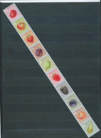 Timbres Rouleaux Par 10 Rolzegels Fruits Petite Dentelure Cerise Kleine Tanding VF 9,2 € - Rollen