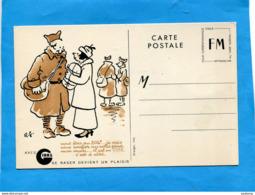Carte F M -Guerre 39-45 Avec Publicité GIBBS-humoristique Illustrée RF-édit Draerger - Publicité