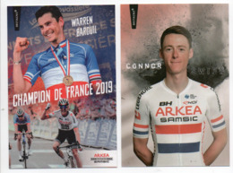 CYCLISME TOUR  DE  FRANCE  CONNOR SWIFT ET WARREN BARGUIL EN MAILLOT DE CHAMPION NATIONAL - Cycling