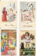 Beau Lot De 40 Cartes Postales Diverses De Voeux ( Noël, Nouvel-an. Paques. Anniversaire ) - Toutes Scannées - Felicitaciones (Fiestas)