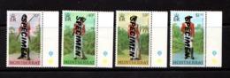 MONTSERRAT    1978    Milutary  Uniforms    Overprinted  SPECIMEN    Set  Of  4    MNH - Montserrat
