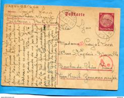 MARCOPHILIE- Guerre 39-45  -S T O- Carte Entier Postal 15  Cad Lignitz  16 6 44- - WW II