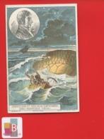 Angers Godin Jolie Chromo  ROMANET AEROSTAT HISTOIRE BALLON Zambeccari Mer Adriatique Naufrage - Trade Cards