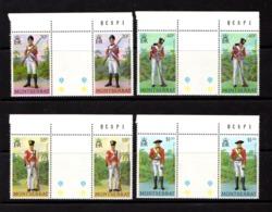 MONTSERRAT    1978    Milutary  Uniforms     Set  Of  4   Gutter  Pairs    MNH - Montserrat