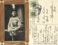 Crown Prince Alexander I Of Yugoslavia In Uniform Medals (1909) Postcard - Royal Families