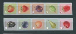 Timbres Rouleaux Rolzegels Fruits Petite Dentelure Pomme Queue Kleine Tanding VF 9,2 € - Rollen