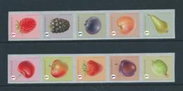 Timbres Rouleaux Rolzegels Fruits Petite Dentelure Cerise Kleine Tanding VF 9,2 € - Rollen