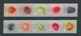 Timbres Rouleaux Rolzegels Fruits Petite Dentelure Fraise Kleine Tanding VF 9,2 € - Rollen