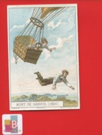 Angers Godin Jolie Chromo  ROMANET AEROSTAT HISTOIRE BALLON Mort Aerostier Harris Chute Vide - Trade Cards