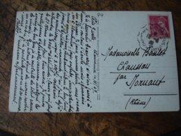 Chamonix A Saint Gervais Le Fayet  Cachet Ambulant Convoyeurposte Ferroviaire Sur Lettre - Marcophilie (Lettres)