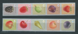 Timbres Rouleaux Rolzegels Fruits Grande Dentelure Mure Grote Tanding VF 9,2 € - Rollen