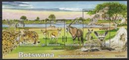 Botswana (2019) - Block -  /  Endangered Wild Cats - Birds Of Prey - Fox - Wild Cat - African Fauna - Big Cats (cats Of Prey)