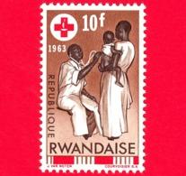 Nuovo - MNH - RWANDA - 1963 - Centenario Della Croce Rossa - Assistenza Sanitaria - 10 - 1962-69: Nuovi