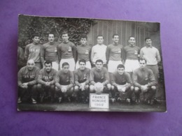 CPA PHOTO EQUIPE DE FOOT FRANCE HONGRIE 1962 - Calcio