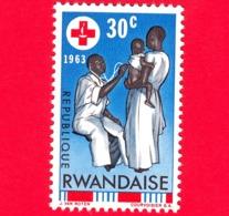 Nuovo - MNH - RWANDA - 1963 - Centenario Della Croce Rossa - Assistenza Sanitaria - 30 - 1962-69: Nuovi