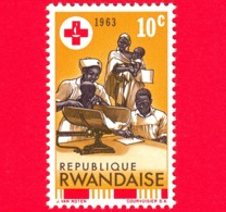 Nuovo - MNH - RWANDA - 1963 - Centenario Della Croce Rossa - Infant Welfare - 10 - 1962-69: Nuovi