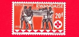 Nuovo - MNH - RWANDA - 1963 - Centenario Della Croce Rossa - Assistenza Sanitaria - 20 - 1962-69: Nuovi