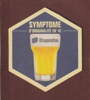 SOUS BOCK De BIERE - HOEGAARDEN SYMPTOME D'ORIGINALITE N°4 - Bière Blanche BELGE - 10 Cm De Large -  Voir Les 2 Scannes - Sous-bocks