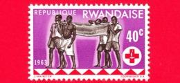Nuovo - MNH - RWANDA - 1963 - Centenario Della Croce Rossa - Assistenza Sanitaria - 40 - 1962-69: Nuovi