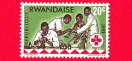 Nuovo - MNH - RWANDA - 1963 - Centenario Della Croce Rossa - Donazione Di Sangue - 20 - 1962-69: Nuovi