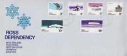 Polaire Néozélandais, N° 9 à 14 Obl. Scott-Base Le 13 JA 72 Sur FDC (flocons De Neige) - FDC
