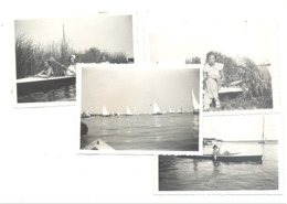 Lot De 4 Photos ( +/- 6 X 9 Cm ) LEYDE / LEIDE / LEYDEN   1934 - Bateau, Voile,... (b249) - Plaatsen