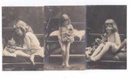 """Lot """"Fillette Et Son Chat"""" (enfant, Fille, Circulées) - Enfants"""