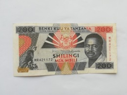 TANZANIA 200 SHILINGI - Tanzania