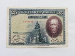 SPAGNA 25 PESETAS 1928 - [ 1] …-1931 : Eerste Biljeten (Banco De España)