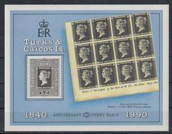E304. Turks & Caicos - MNH - Art - Stamps - Penny Black - Arts