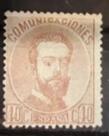 ESPAÑA.  EDIFIL 125 *.  40 CT AMADEO I    CATÁLOGO 60 € - Nuevos