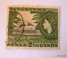 KENYA UGANDA TANGANYIKA 1954. Queen Elizabeth II, 2s. Mt. Kilimanjaro SG177. Used. - Kenya, Uganda & Tanganyika